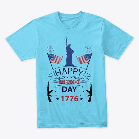 Happy 4th July Tahiti Blue T-Shirt Front