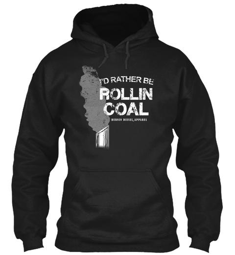 Rolling Coal Diesel Truck Black T-Shirt Front
