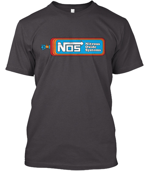 Nos Nitrous Oxide System Heathered Charcoal  T-Shirt Front