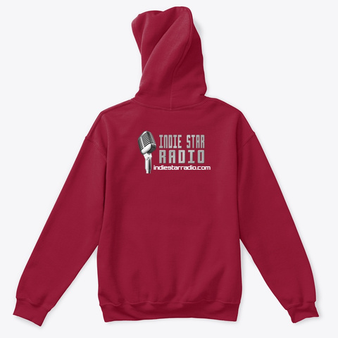 Official Indie Star Radio Kids Hoodie Cardinal Red T-Shirt Back