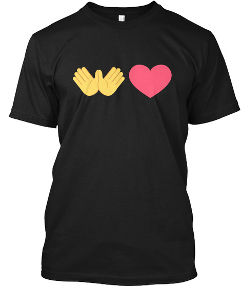 Spreading The Love Emojis Black T-Shirt Front
