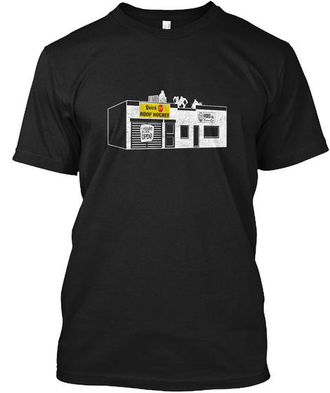 Quick Roof Hockey Open Black T-Shirt Front