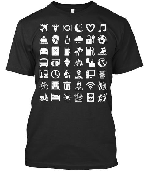 The Travel Translator Black T-Shirt Front