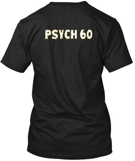 Psych 60 Black T-Shirt Back