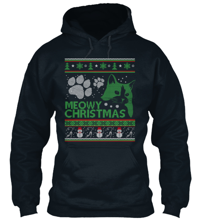 Fashionable-Meowy-Christmas-Sweat-a-Capuche-Sweat-a-Capuche-Confortable