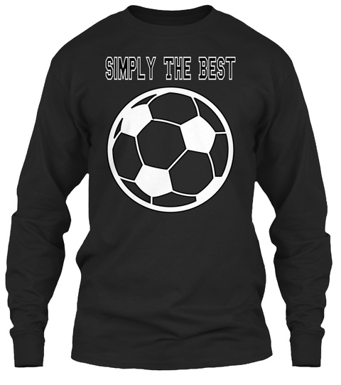Simply The Best Black T-Shirt Front