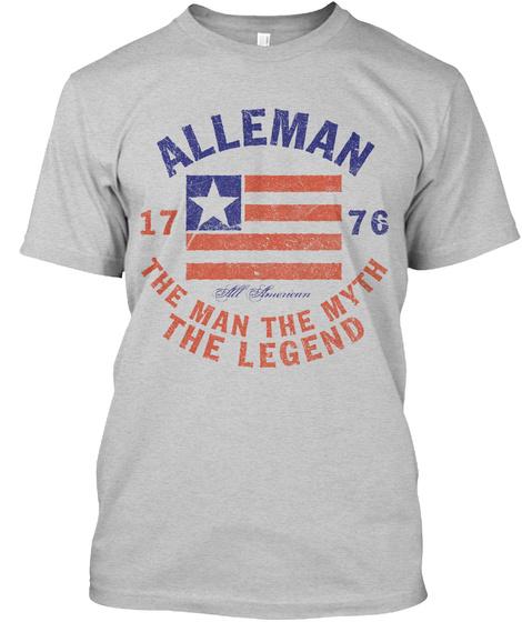 Alleman American Man Myth Legend Light Steel T-Shirt Front