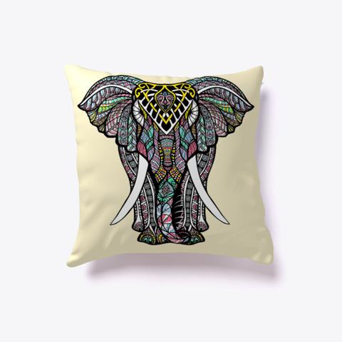Cute Pillows Elephant Pillow  Light Yellow T-Shirt Front