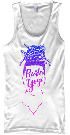 Rasta Yogi White T-Shirt Front