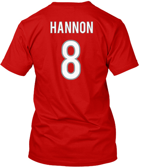 Hannon 8 Classic Red T-Shirt Back