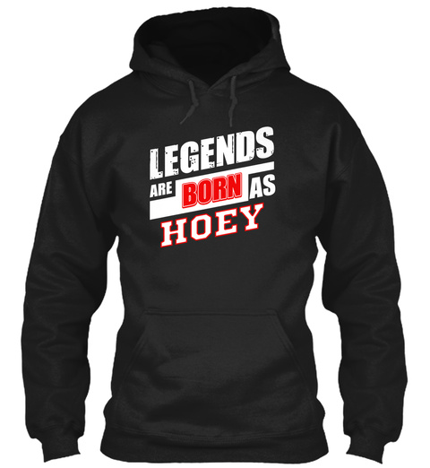 Hoey Family Name Shirt Black T-Shirt Front