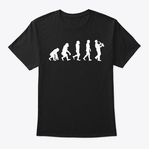 Evolution Saxophone Marching Band Black T-Shirt Front