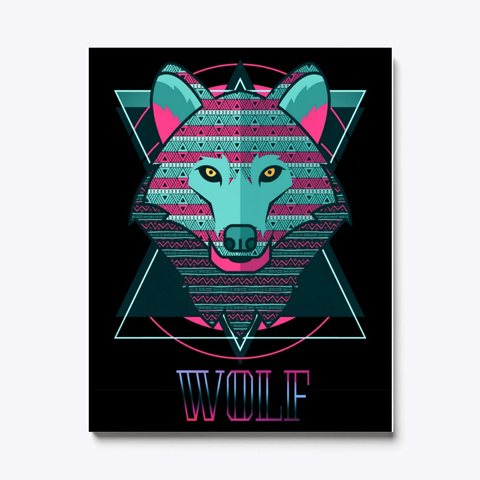 Wolf Canvas   Wolf Animal Colorfull Art Standard T-Shirt Front
