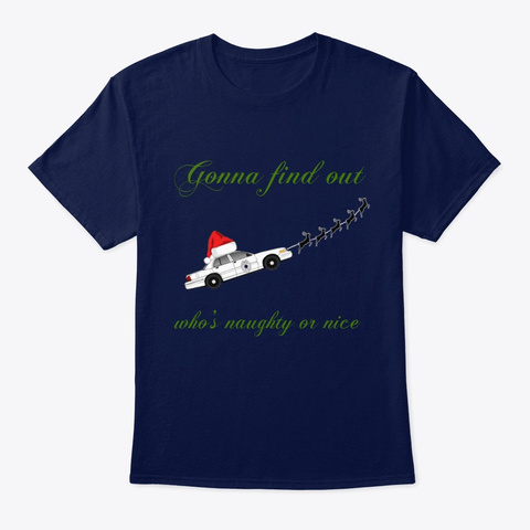 A Poorly Made Christmas Navy T-Shirt Front