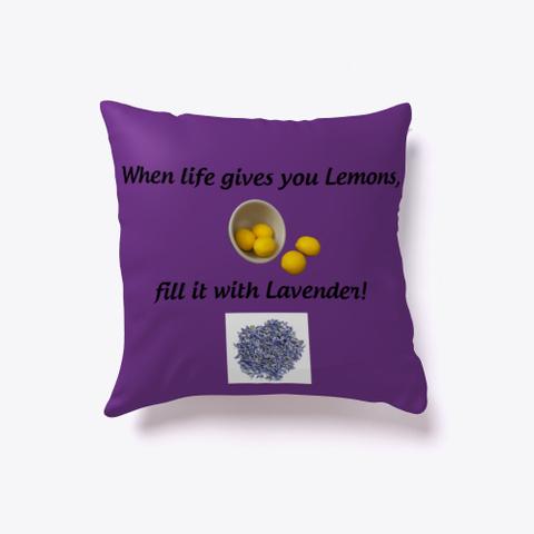 Lemons Lavender Purple T-Shirt Front