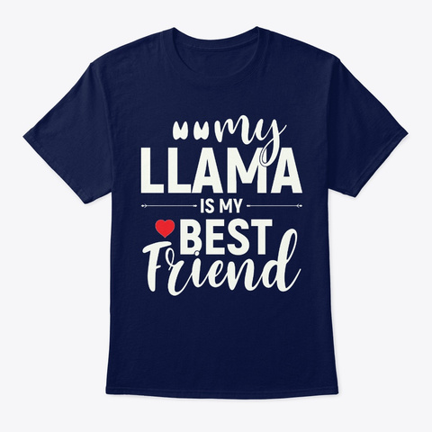 Llama Shirt, Llamas Shirt, Llama Hoodie Navy T-Shirt Front