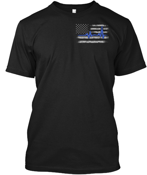 Being A Police Reason Black T-Shirt Front