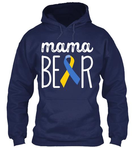 Mama Beer Navy Sweatshirt Front