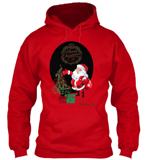 Holiday Tees Red Sweatshirt Front