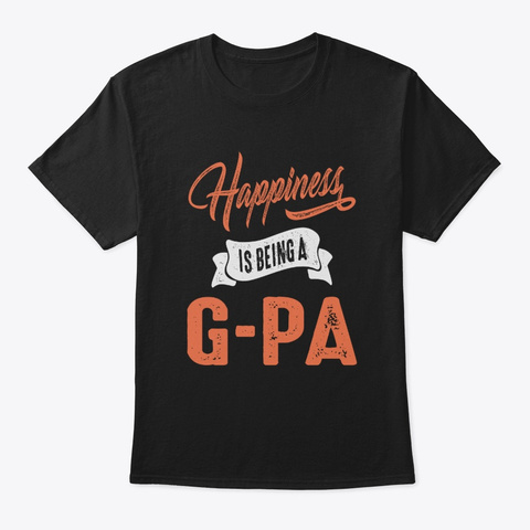 Mens Grandpa Happiness Is Being A G Pa  Black Camiseta Front