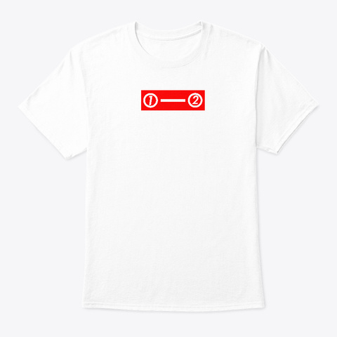 1   2 Design (But Why) White T-Shirt Front