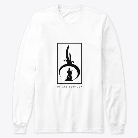 We Are Bermuda Premium Long Sleeve Tee White T-Shirt Front
