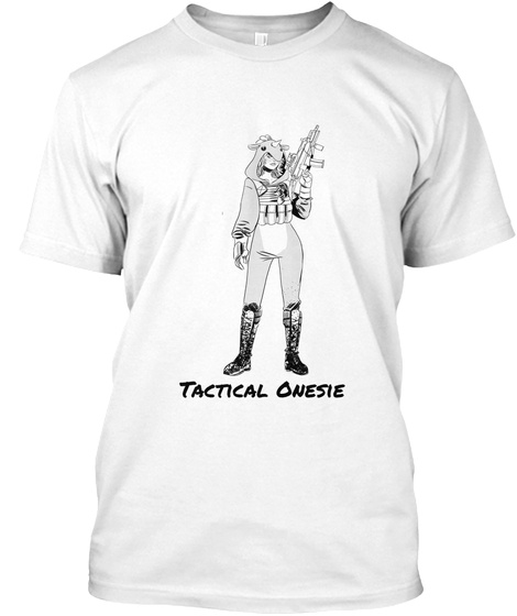 Tactical Onsie White T-Shirt Front