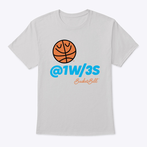 Basket Bill™ At One With Threes Light Steel T-Shirt Front