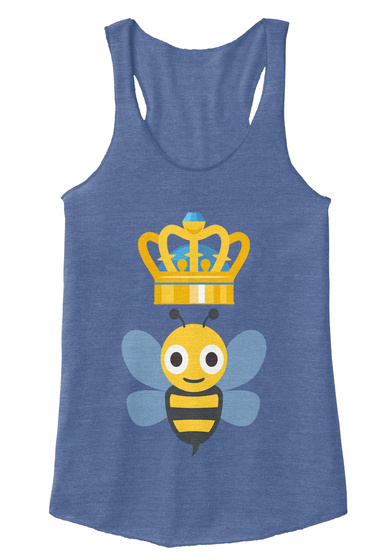 Queen Bees 1 Eco Pacific Blue  T-Shirt Front