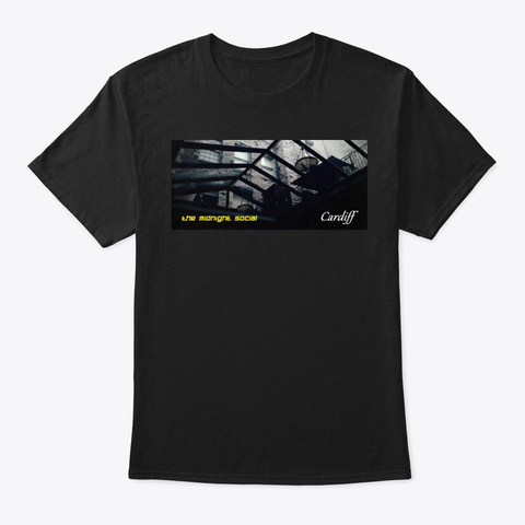 Cardiff Single Shirt  Black T-Shirt Front