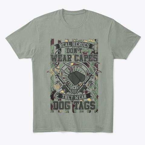Bg Apparel   Real Heros Grey T-Shirt Front