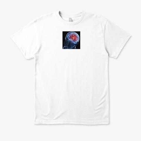 Gee Hii Brain Reviews White áo T-Shirt Front