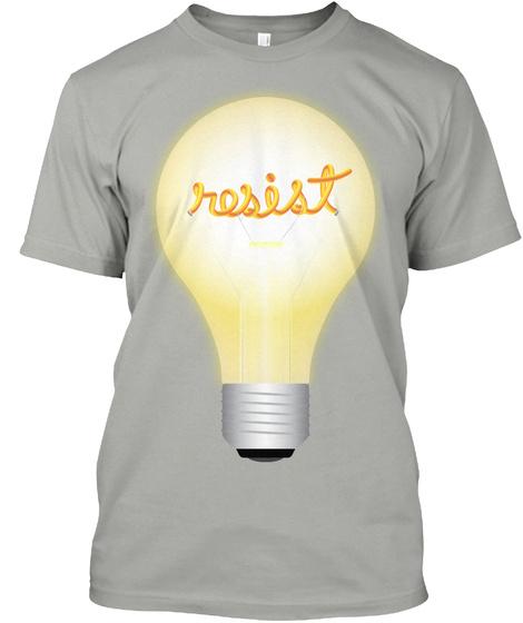 Resist Light Grey T-Shirt Front