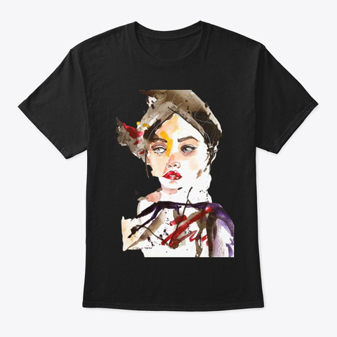 Arty Girl Black T-Shirt Front