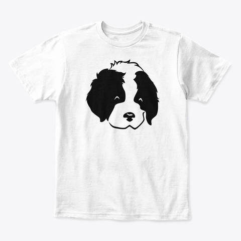2a48deb57d2d from SPA design store. Love My Dog White T-Shirt Front