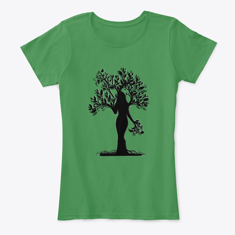 Tree Woman Silhouette   Gancanagh Event Kelly Green  T-Shirt Front