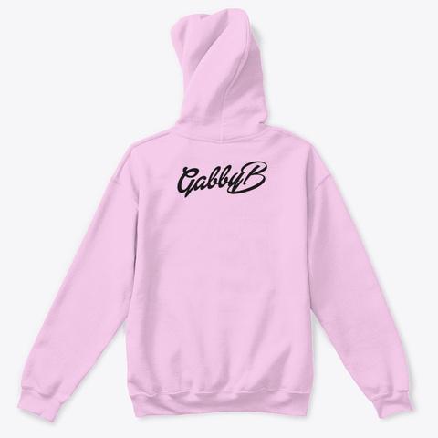 """Black """"Gabby B"""" Logo  Light Pink T-Shirt Back"""