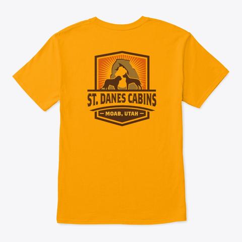 Full Color St Dane's Logo Gold T-Shirt Back