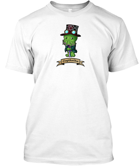 Cogthulhu White T-Shirt Front