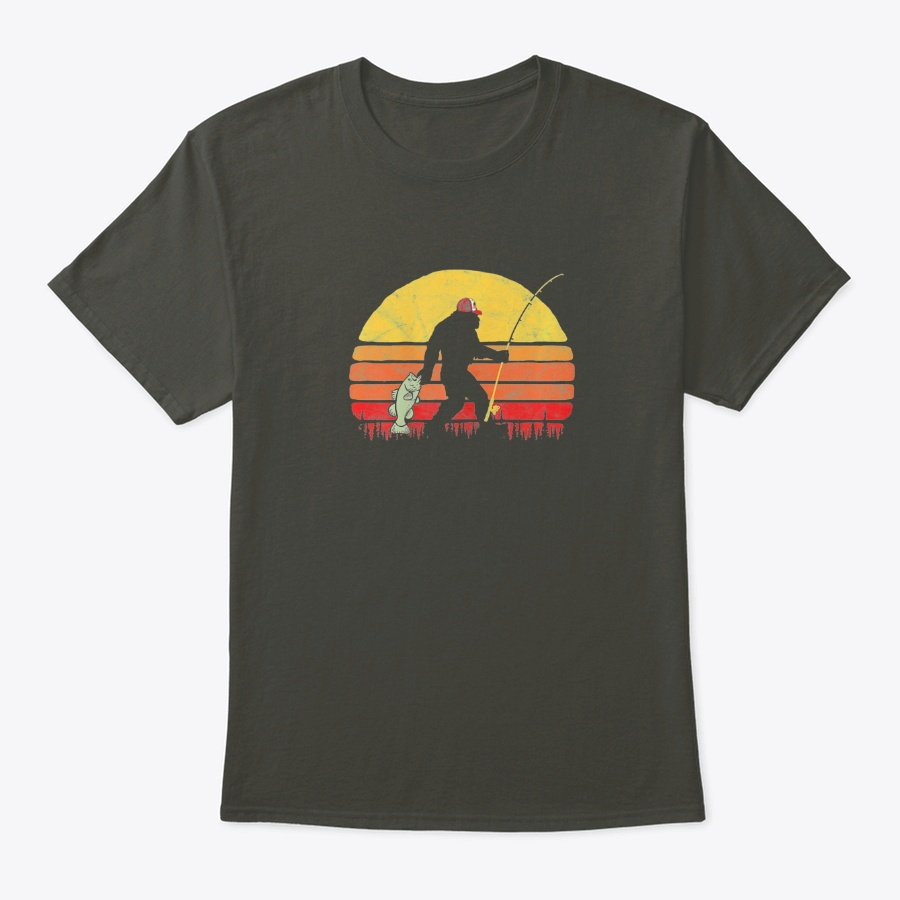 Bass Fishing Bigfoot In Trucker Hat Re Unisex Tshirt
