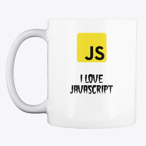 L  Love Java Script Mug White T-Shirt Front