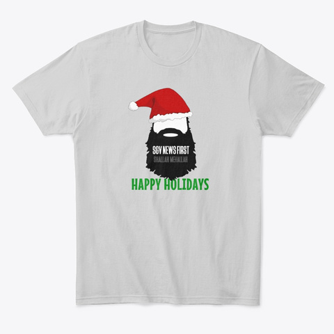 Sgv   Happy Holidays! Light Heather Grey  T-Shirt Front