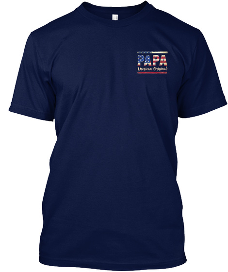 Papa Navy T-Shirt Front