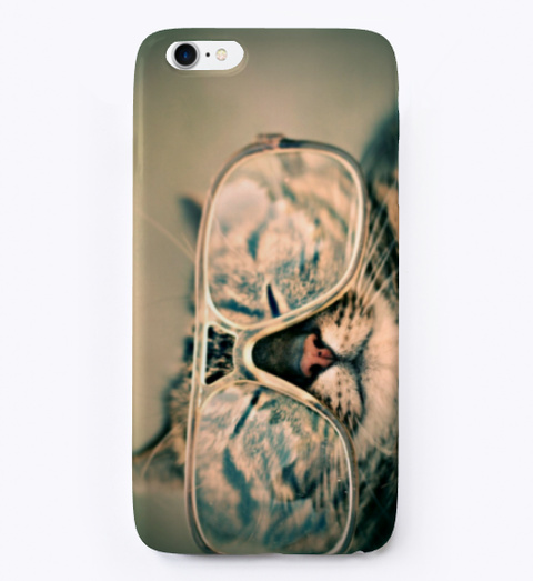 Cat In Glasses Phone Cover. Standard T-Shirt Front