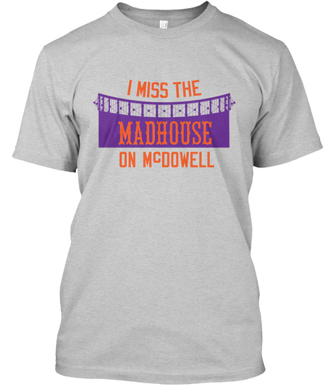 Naming Wrongs: Madhouse (Grey) Light Steel T-Shirt Front