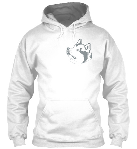 Husky Hoodie Ellesson Arctic White T-Shirt Front