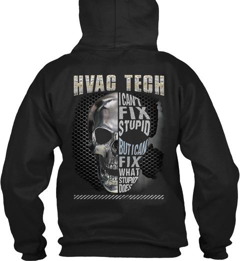 Hvac Tech Hoodie Christmas Special Black T-Shirt Back