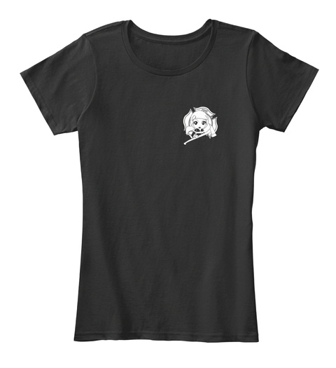 Firefighter Girl Shirt  Black T-Shirt Front