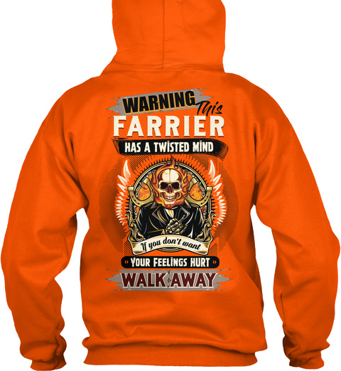 Crazy Farrier Shirt Safety Orange T-Shirt Back