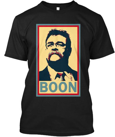 Boonie   David Boon Hope T Shirt Black T-Shirt Front